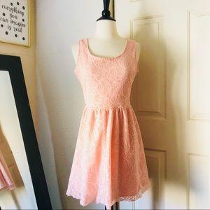 Rue21 Peach Lace Dress Medium